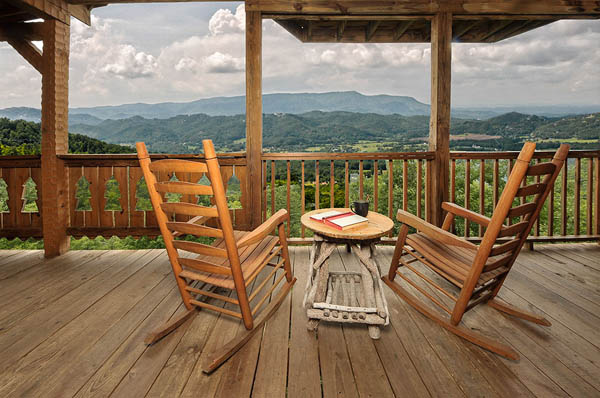 Morning Desire - One of three decks with an awesome view.  Sit back and relax in rocking chairs and take it all in.