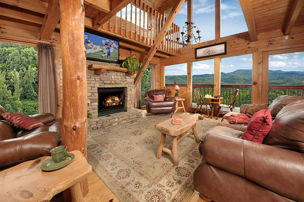 Smoky Mountain Cabins ~ Sky s the limit bedroom cabin in pigeon forge with
