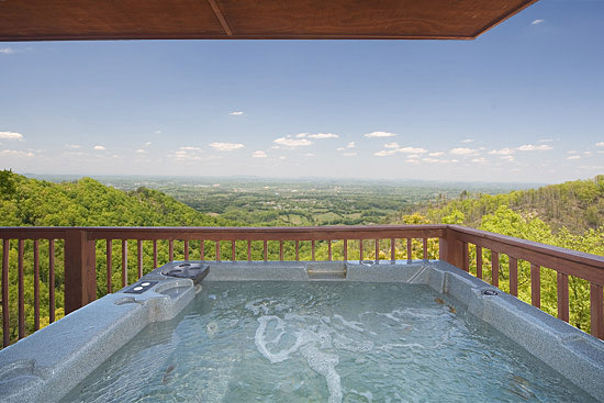 Hot Tub with awesome views